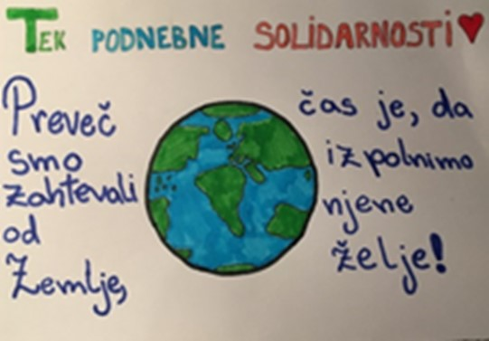 Tek podnebne solidarnosti na naši šoli