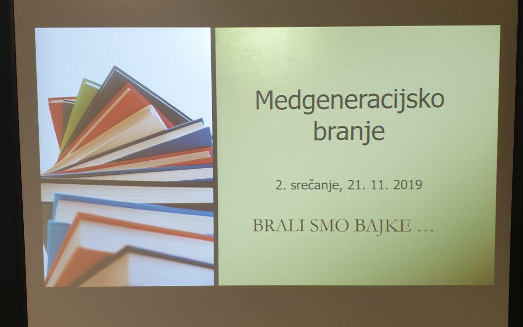 Medgeneracijsko druženje s knjigami