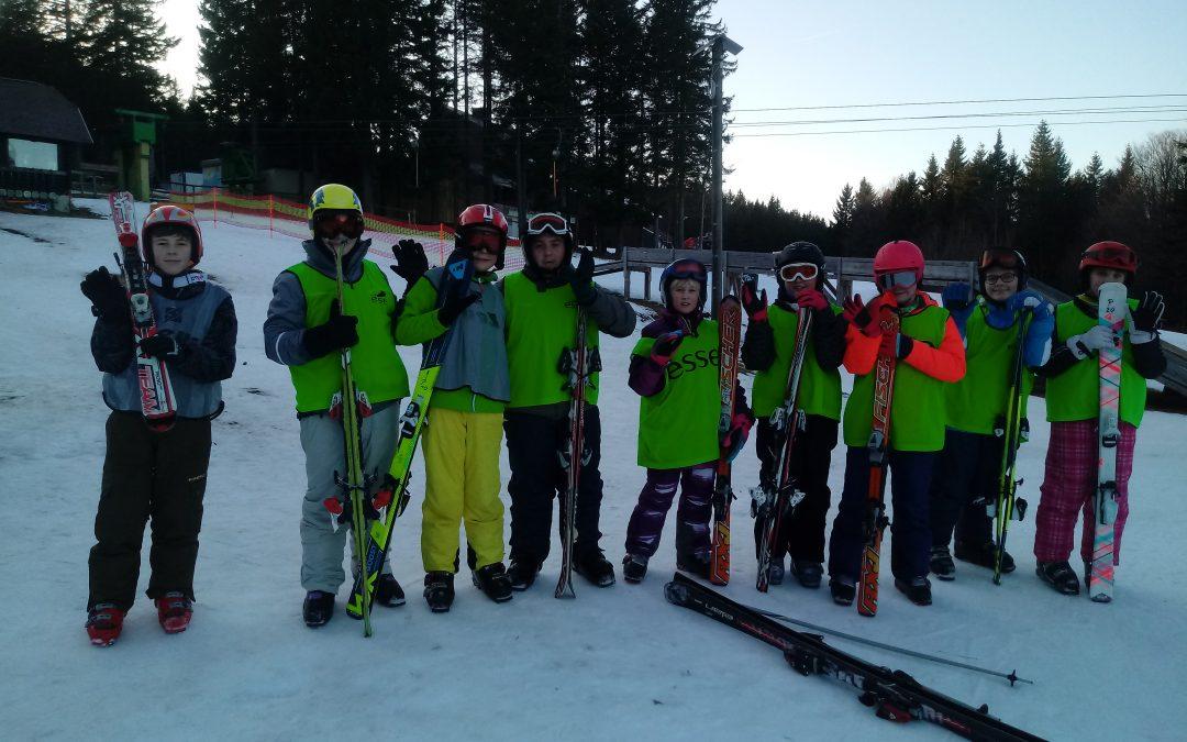 Zimska šola v naravi, ponedeljek